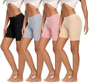 Molasus Womens Boxer briefs Underwear Anti Chafing Cotton Boy Shorts Bike Shorts