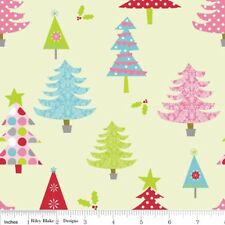 Christmas Basics Lime by Riley Blake Designs 100% Cotton Festive Tree Fabric