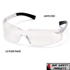 SAFETY GLASSES CLEAR ANTI-FOG LENS SHOOTING PYRAMEX ZTEK S2510ST (12 PAIR)