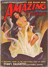 Sep 1948 Pulp AMAZING STORIES Richard Shaver GGA Cover R GIBSON JONES St. John