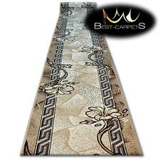 moderno tappeto per corridoio stile RUNNER BCF BASE BEIGE FLOREALE Scale