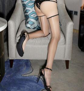1D Retro Back Seam Shiny Nylon Long Stockings Women Ultra thin Pantyhose Tights
