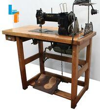 Pfaff 142-6BS 2-Nadel Zweinadel Industrienähmaschine Tisch m. Nähkästchen