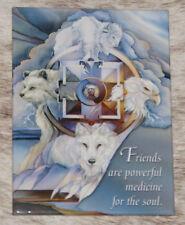 """LEANIN TREE """"Medicine Wheel"""" Friends Are Powerful Medicine #31131 Magnet~Bergsma"""