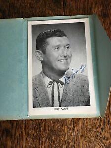 Autographed Roy Acuff Fold Out Souvenir Folder Dunbar Cave Clarksville TN