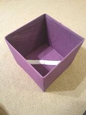 Storage Box Canvas Lightweight Non Woven Open Foldable Pink Blue Children Room
