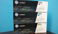 New HP 305A C/M/Y Color Toner Cartridges,CE411A , CE413A , CE412A , 3/Pack