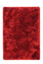 HAND WOVEN - LUXURY MODERN HEAVY PLUSH SOFT SHAGGY RUG, 150 x 80CM, RED