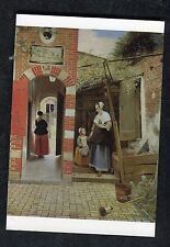 c1970s Art Card: The Courtyard of a House in Delft by Pieter de Hoogh