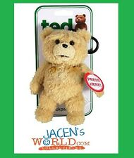 TED 6 INCH TALKING PLUSH TEDDY BEAR BACKPACK CLIP TOY MOVIE