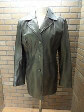 Black Leather Jacket by JLC New York size Small 3 buttons front