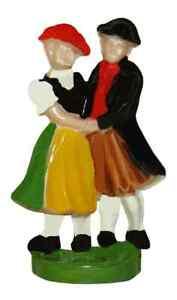 "NEW Mini German 1-1/8"" Novelty Dancing Couple Cuckoo Clock Figure - 2 Colors"