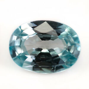 Zircon 1.55ct. A lightly greenish blue stone that is eye clean and well polished