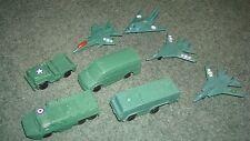 4 Militari in plastica giocattolo vehilces PLUS 4 in plastica aerei militari
