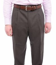 Michael Kors Classic Fit Taupe Double Pleated Wool Dress Pants