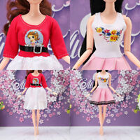 Doll dress clothes for doll dress baby girl birthday present for kids lovely FG