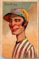 1880s W. DUKE SONS & CO. COMIC CHARACTERS  TRUE  STRIPE - TOBACCO CARD HONEST