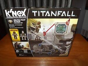 K'NEX, TITANFALL, MILITIA PILOT ATTACK BUILDING SET, #69497, 92 PIECES, NIB 2014