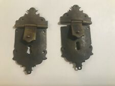 Antique 18th Century  Period  Chippendale Bronze Lock Plate Pair! Spectacular!