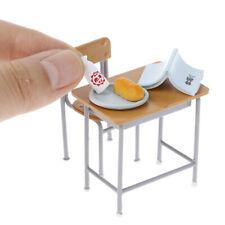 Casa de muñecas en miniatura de aula de Mesa y Silla Set con accesorios para niños toyszt