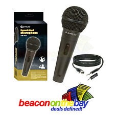 SANSAI Dynamic Microphone Mic + Free Cable + Adapter Karaoke Recording Studio DJ