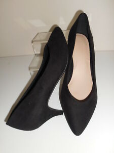 Black Faux Suede Stiletto Shoes Size UK 7 Wide Fit ( EEE ) BNWT From Evans