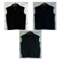 Mens Zip Vest Top With Pocket Winter Coat Jacket 100% Polyester Polar Fleece