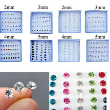 20 Pairs Wholesale Lot Charming Clear Rhinestone Crystal Ear Studs Earrings