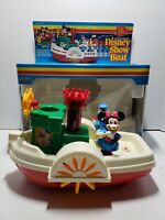 Vintage Disneyland Playmates Disney Show Boat Band Toy Minnie Mouse Donald Duck