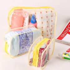 Makeup Cosmetic Toiletry Clear PVC Travel Wash Storage Bag Holder Pouch Zipper