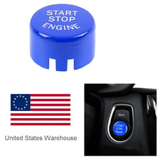 For BMW F20 F10 F01 F48 F26 Vehicle Engine Start Stop Button Cover Trim Blue