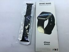 NEXT - Sport Band Watch Strap for Apple Watch 42mm Series 3 2 1- Black