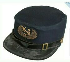 Civil War Usa Navy Officer Visor Cap Bearing The Rank Insignia
