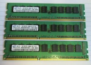 Samsung M391B2873DZ1-CH9 3GB (3x1GB) PC3-10600 DDR3-1333MHz ECC CL9 240P Memory