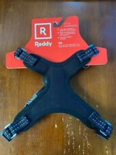 "REDDY dog Harness Size X-SMALL Adjustable Black/leather/metal buckle ""BRAND NEW"""