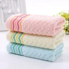3pcs/lot Face Towel Set Colorful Stripe 34 x 75cm Soft Cotton Absorbent Towel