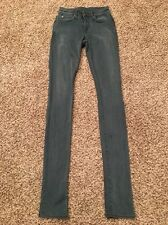 Helmut Lang Womens Juniors Skinny Jeans Jeggings Storm Wash Size 24 EUC