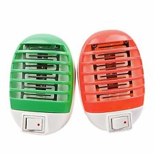 LED Electric Mosquito Fly Bug Insect Trap Zapper Killer Night Lamp US Plug Roung