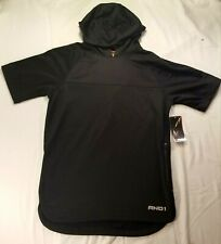 AND1 Black Short Sleeve Hoodie With Media Pocket Size Adult Small Nice New