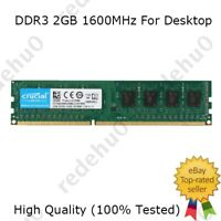For Crucial 2GB 4GB 8GB PC3-12800U DDR3-1600MHz 240Pin DIMM Desktop Memory RAM