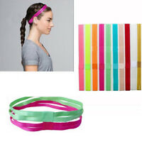 EE_ EG_ Women Anti-Slip Sports Yoga Elastic Headband Hairband Double Layer Band