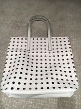 NEW Estee Lauder White Perforated Beach Tote Hand Bag