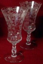 """CAMBRIDGE crystal CHANTILLY 3625 Iced Tea Goblet Glass - Set of Two (2) - 7-5/8"""""""