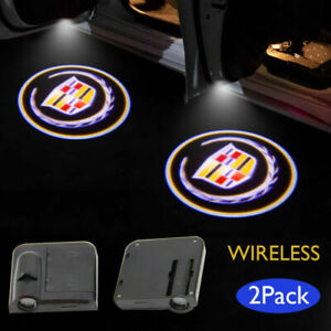 For Cadillac 2pcs LED Light Logo Projector Shadow Light Door Welcome Light