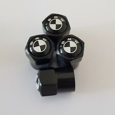 BMW VALVE DUST CAPS BLACK  1 2 3 4 5 6 7 X Z Series All models PLASTIC NON STICK