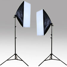 Photo Video Studio Continuous Lighting Kit Bulb Lamp Softbox Light Stand Supply