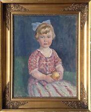 Søren Sørensen (1887-1935): PORTRAIT OF A THREE YEAR OLD GIRL