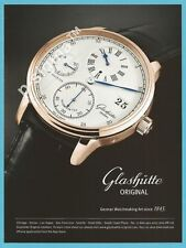 GLASHUETTE watch - German Watchmaking Art Print Ad