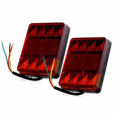 Pair 12V LED Caravan Van Truck Lorry Trailer Rear Tail Stop Light Indicator Lamp