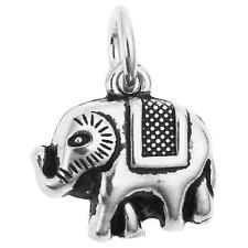 1 X 925 Sterling Silver Elephant Dangle Pendant Charm SCP489B